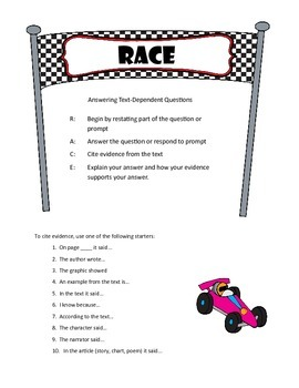 Answering Text-Dependent Questions with the RACE Strategy