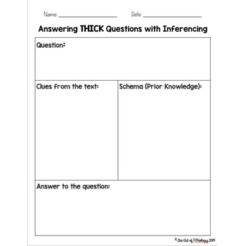 Answering Thick Questions with Inferencing