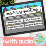 Answering WH Questions Boom Cards WITH AUDIO