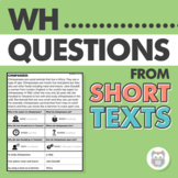 Answering WH Questions From Short Text for Speech Therapy