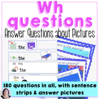 Answering Wh Questions About Pictures for Expressive Language Speech Therapy