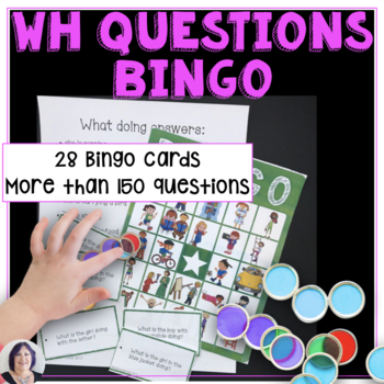 Answering Wh Questions Bingo for Speech Therapy or Special Education