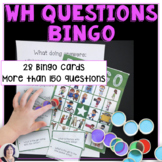 Answering Wh Questions Bingo for Speech Therapy or Autism