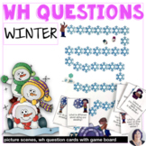 Answering Wh Questions about Winter for speech language therapy