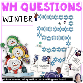 Answering Wh Questions about Winter for speech therapy