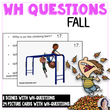 Answering Wh questions for Fall for Speech Language Therapy