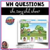 Answering Wh Questions BOOM Cards Who What doing and Where
