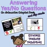 Answering Yes/ No Questions Adapted Book and Lesson