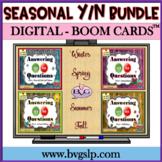 Answering Yes No Questions Boom Cards Digital SEASONAL BUN