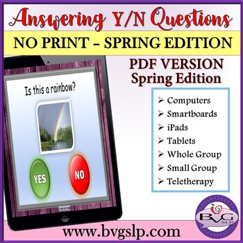 Answering Yes No Questions PDF - Part 3 SPRING EDITION