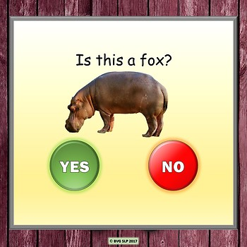 Answering Yes No Questions - Part 1 Foods and Animals Teletherapy
