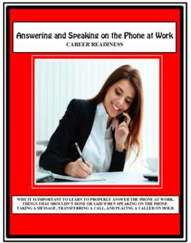 Career Readiness, Employment, PHONE SKILLS, Vocational, Careers
