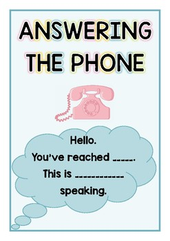 Answering the Phone