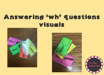 Answering 'wh' Questions Visuals