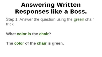 Answering written responses like a boss.