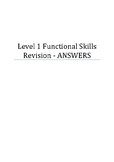 Answers to my Functional Skills Maths Level 1 Revision