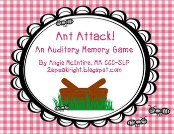 Ant Attack!  An Auditory Memory Game