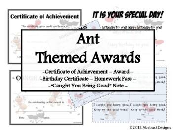Ant Awards Set
