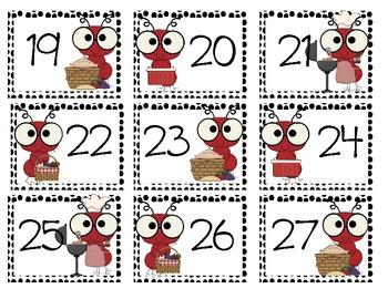 Ant Calendar Cards