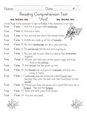 Ant Comprehension & Language Tests