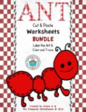 Ant Cut and Paste Worksheets BUNDLE