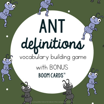 Ant Definition Building Game Spring Vocabulary: Speech Therapy #apr17SLPmustHAVE