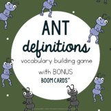 Ant Definition Building Game Spring Vocabulary: Speech Language Therapy