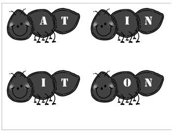 Ant File Folder: 2 letter words