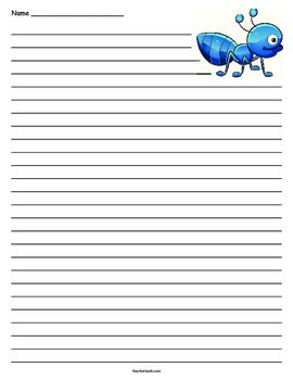Ant Lined Paper