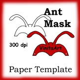 Ant Mask, Paper Craft Template, Ant Antennae Mask