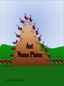 Ant Name Plates