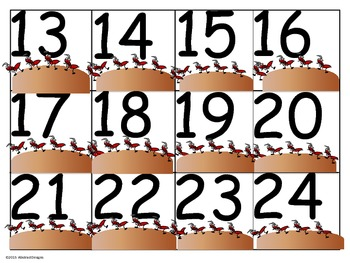 Ant Numbers (100's Chart and Calendar)