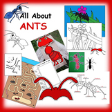 Ant Paper Crafts, Activities, and Clip Art Collection