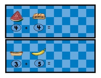 FREE Ant Picnic: Addition Math Center, Find the Sums, Common Core Aligned