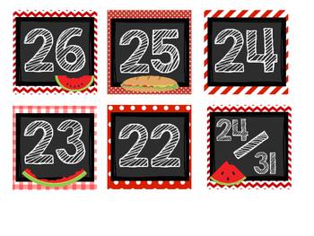 Ant Picnic Calendar Months/Numbers