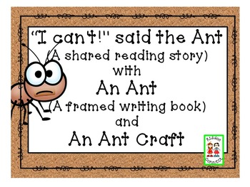 """Ant Shared Reading - """"I Can't Said the Ant"""""""