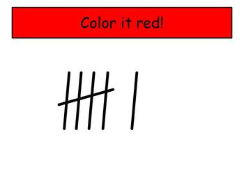 Ant Tally Marks - Beginning Watch, Think, Color Mystery Pictures