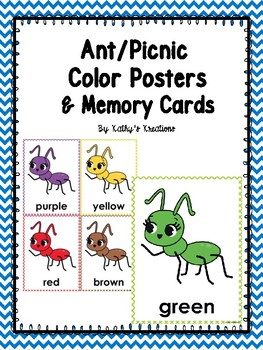 Ant Theme Color Posters & Memory Cards Dollar Deal