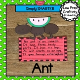Ant Writing Cut and Paste Craftivity