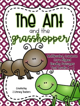 Ant and Grasshopper Fable:CCSS Aligned Leveled Reading Pas