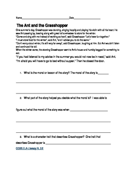 Ant and the Grasshopper fable