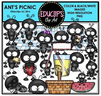 Ant's Picnic Clip Art Bundle {Educlips Clipart}