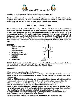 Antacid titration lab
