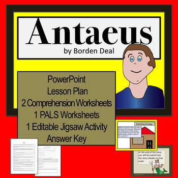 """Antaeus"" Lesson, Worksheets and Powerpoint"
