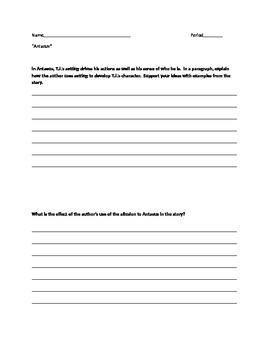 Antaeus Short Response Questions