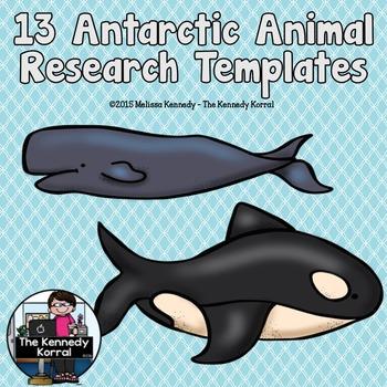 Antarctic Animals Research Trifold BUNDLE