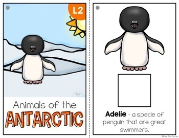 Antarctic Animals Adapted Book { Level 1 and Level 2 } All About the Antarctic