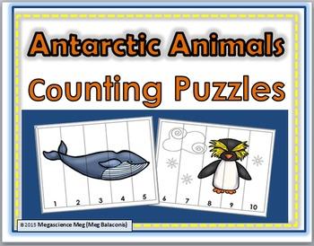 Antarctic Animals Number Puzzles Numbers 1-10