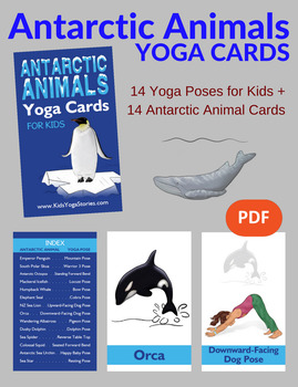 Yoga Cards for Kids - Antarctic Animals
