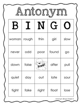 Antarctic Antonyms - worksheets, games, and flashcards
